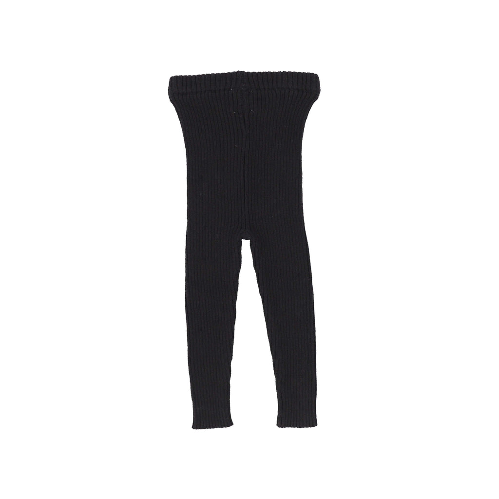 Analogie by Lil Legs Leggings Jellybeanzkids Analogie by Lil Legs Black Knit Long Leggings