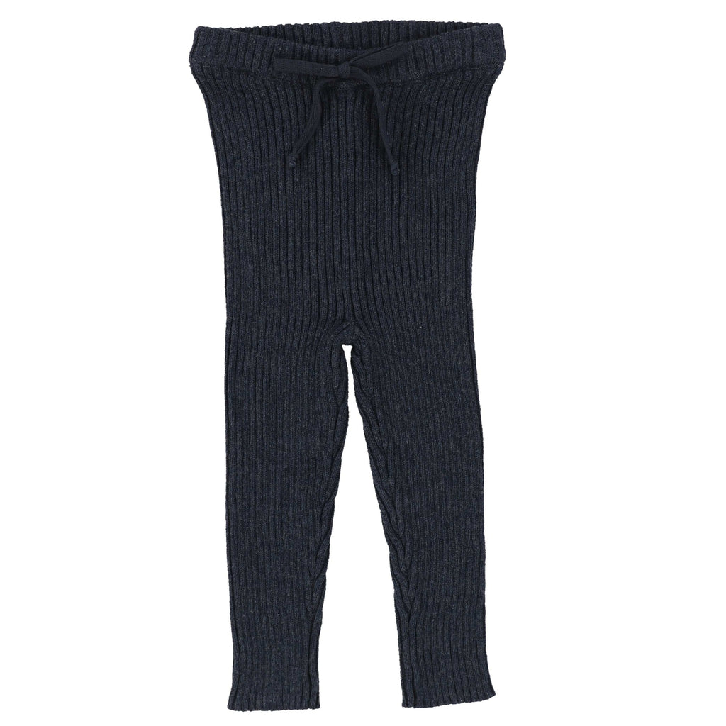 Analogie by Lil Legs Indigo Knit Long Leggings