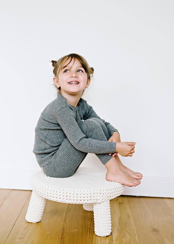 Analogie by Lil Legs Analogie Heather Gray Knit Leggings  JellyBeanz Kids