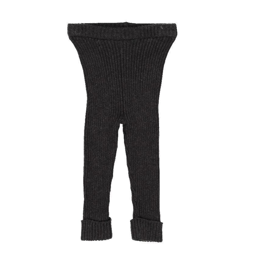 Analogie by Lil Legs Analogie Marled Black Knit Leggings  JellyBeanz Kids