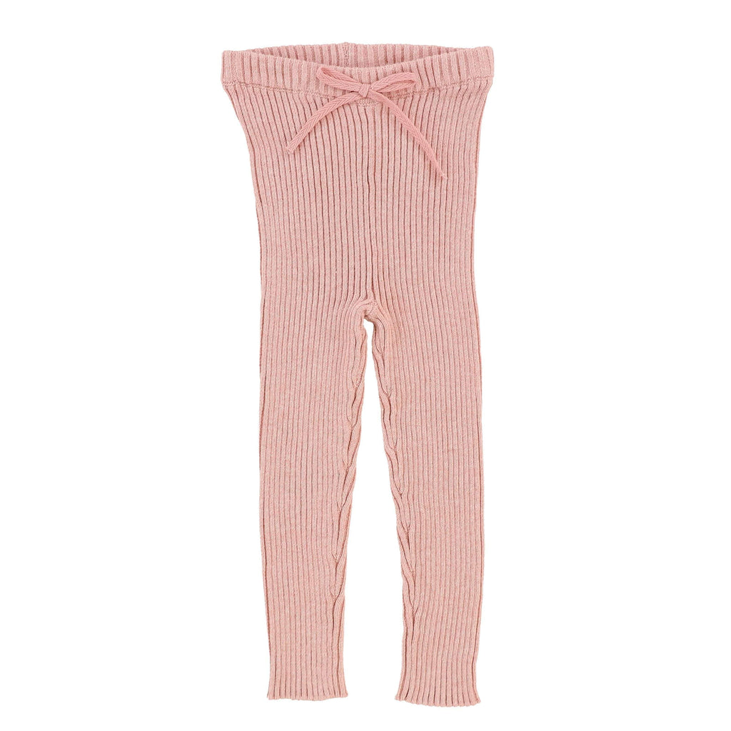 Analogie by Lil Legs Analogie Pink Knit Long Leggings  JellyBeanz Kids