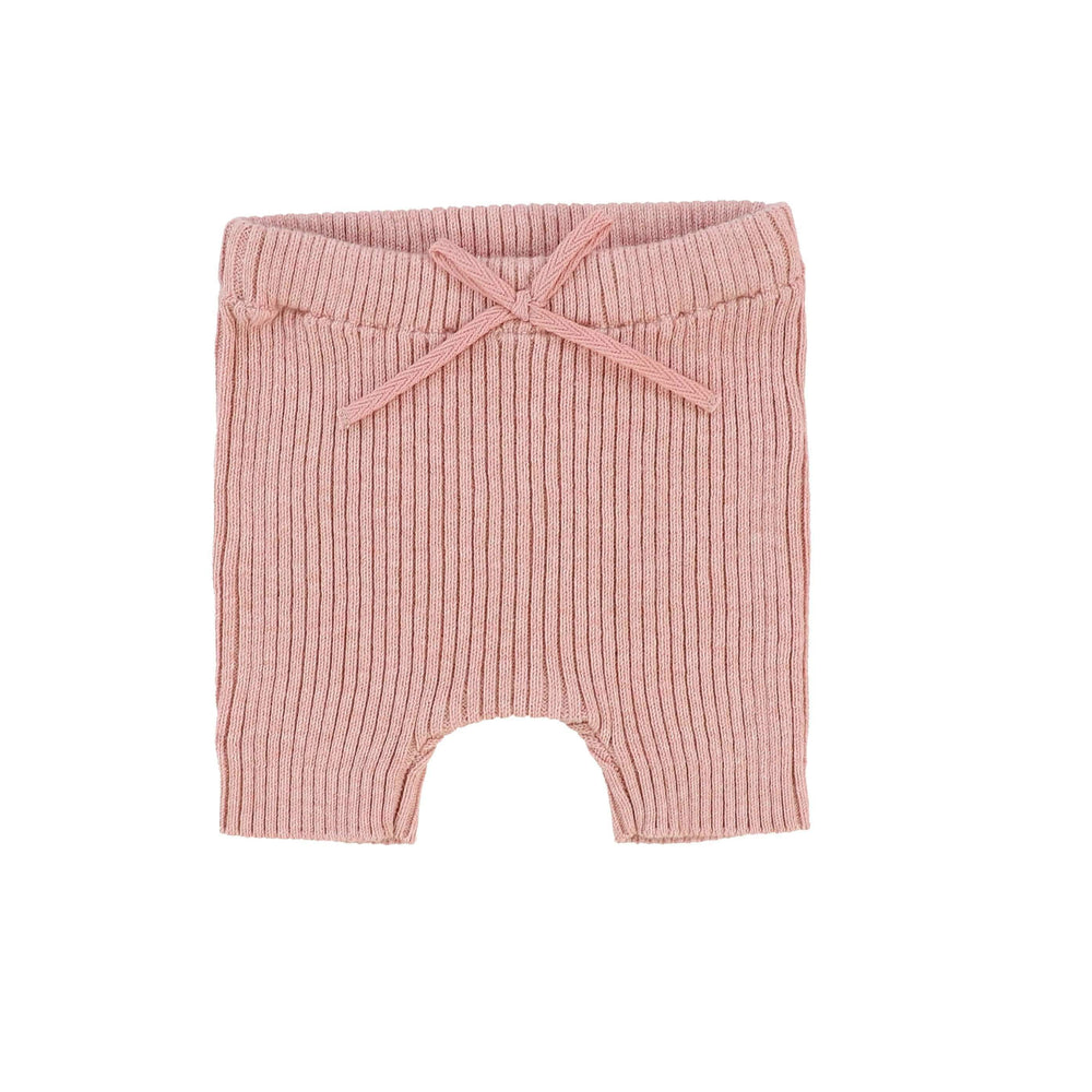 Analogie by Lil Legs Leggings Jellybeanzkids Analogie Pink Knit Short Leggings
