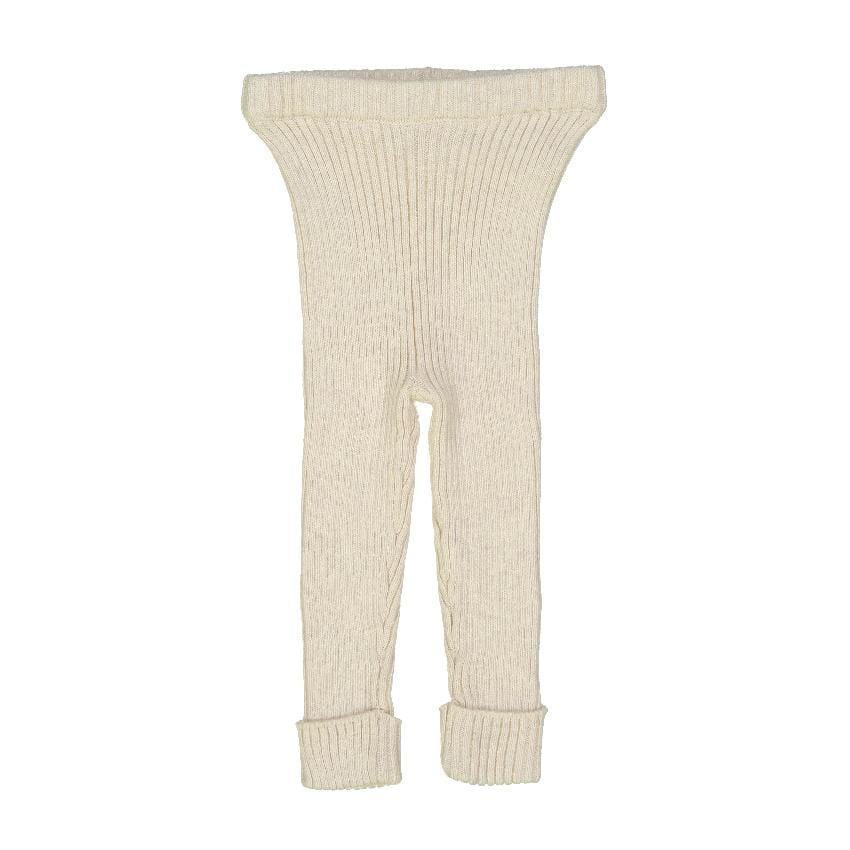 Analogie by Lil Legs Analogie Vintage Ecru Knit Leggings  JellyBeanz Kids