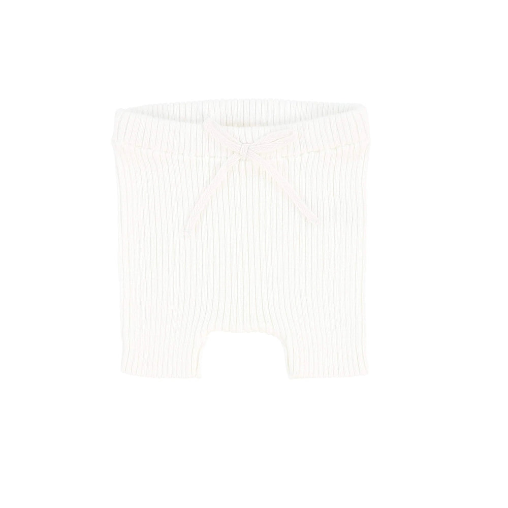 Analogie White Knit Short Leggings - JellyBeanz Kids