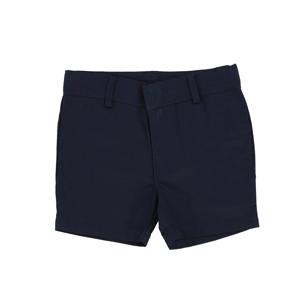 Analogie by Lil Legs Navy Cotton Shorts - JellyBeanz Kids
