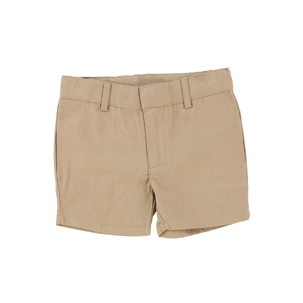 Analogie by Lil Legs Oatmeal Cotton Shorts - JellyBeanz Kids