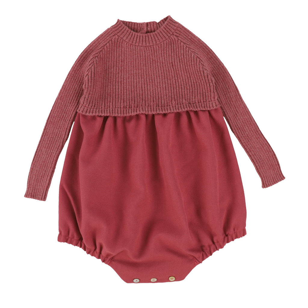 Analogie by Lil Legs Romper Jellybeanzkids Analogie by Lil Legs Mauve Knit Bubble
