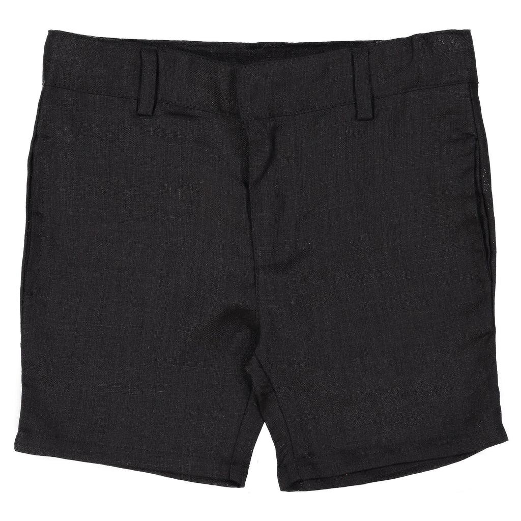 Analogie by Lil Legs Black Linen Boys Shorts  JellyBeanz Kids