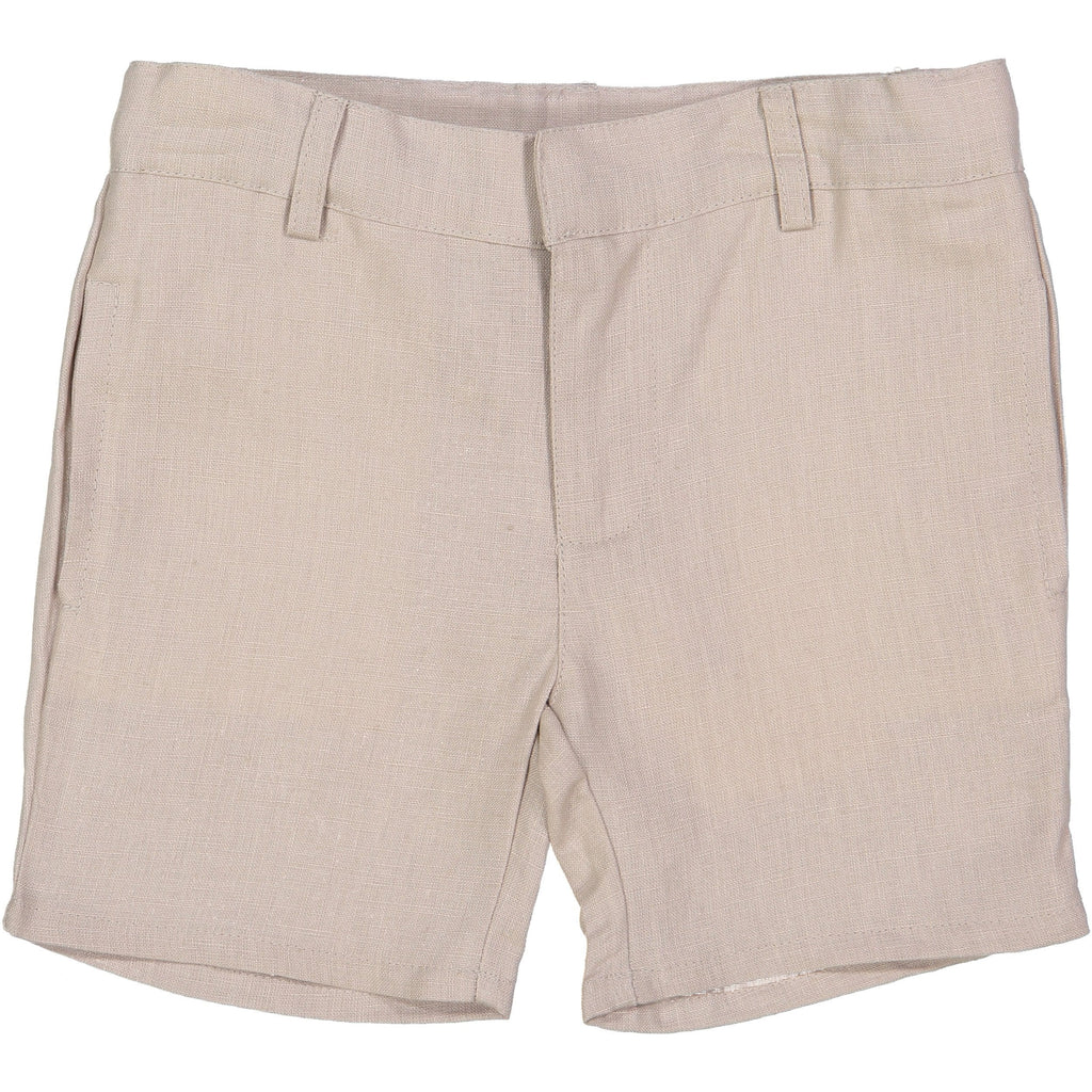 Analogie by Lil Legs Sand Linen Boys Shorts  JellyBeanz Kids