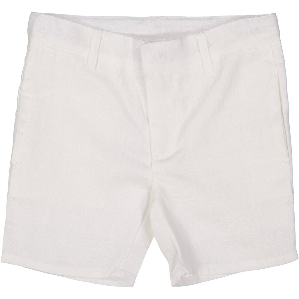 Analogie by Lil Legs White Linen Boys Shorts  JellyBeanz Kids