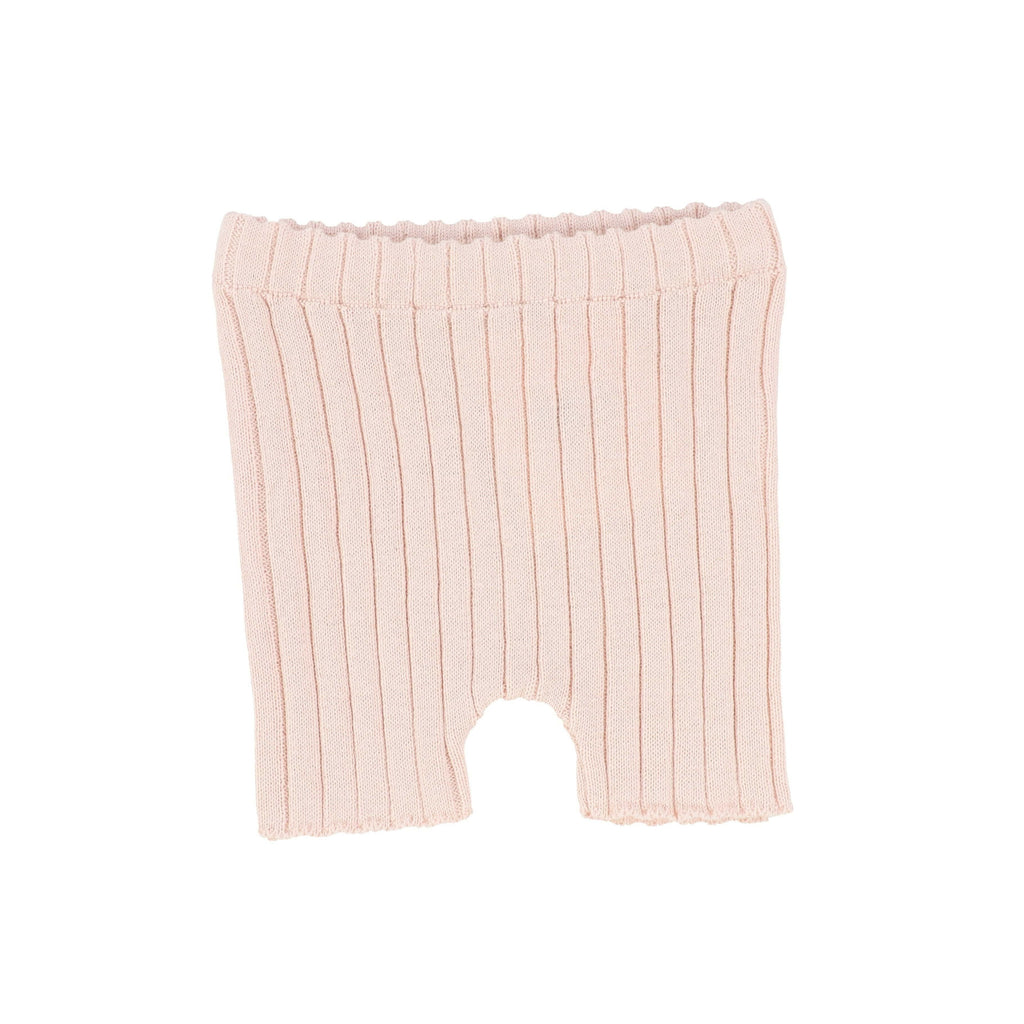 Analogie by Lil Legs shorts Jellybeanzkids Analogie by Lil Legs Pink Knit Short Leggings