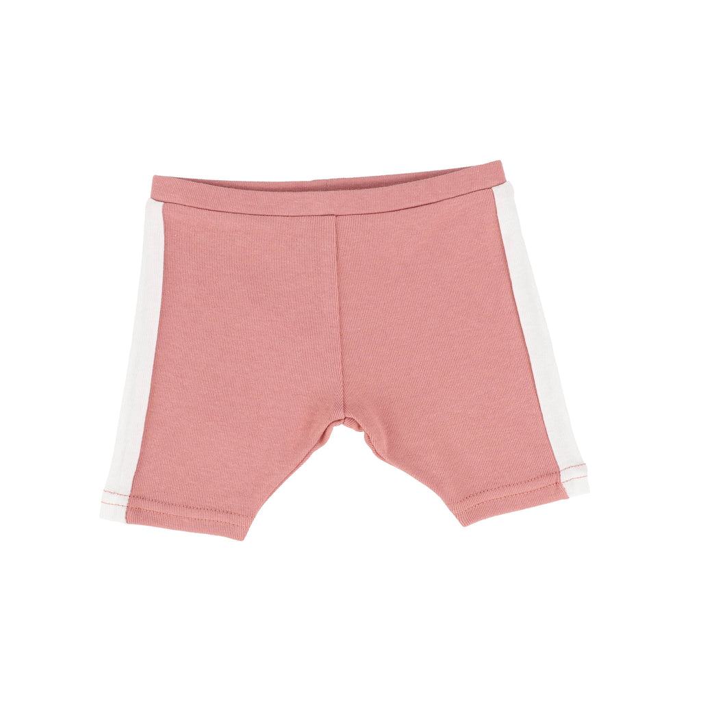 Analogie by Lil Legs shorts Jellybeanzkids Analogie Pink/White Linear Shorts
