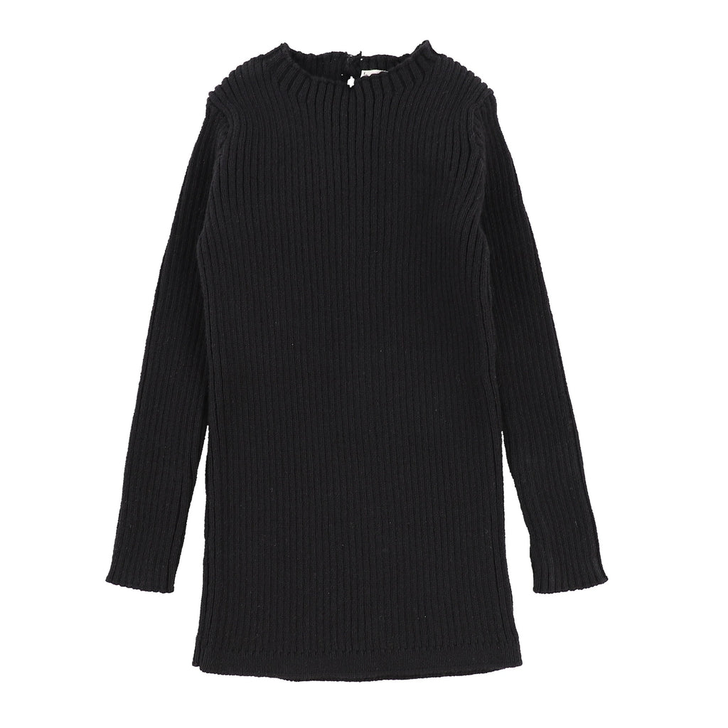 Analogie by Lil Legs Analogie Black Knit Long Sleeve Sweater  JellyBeanz Kids