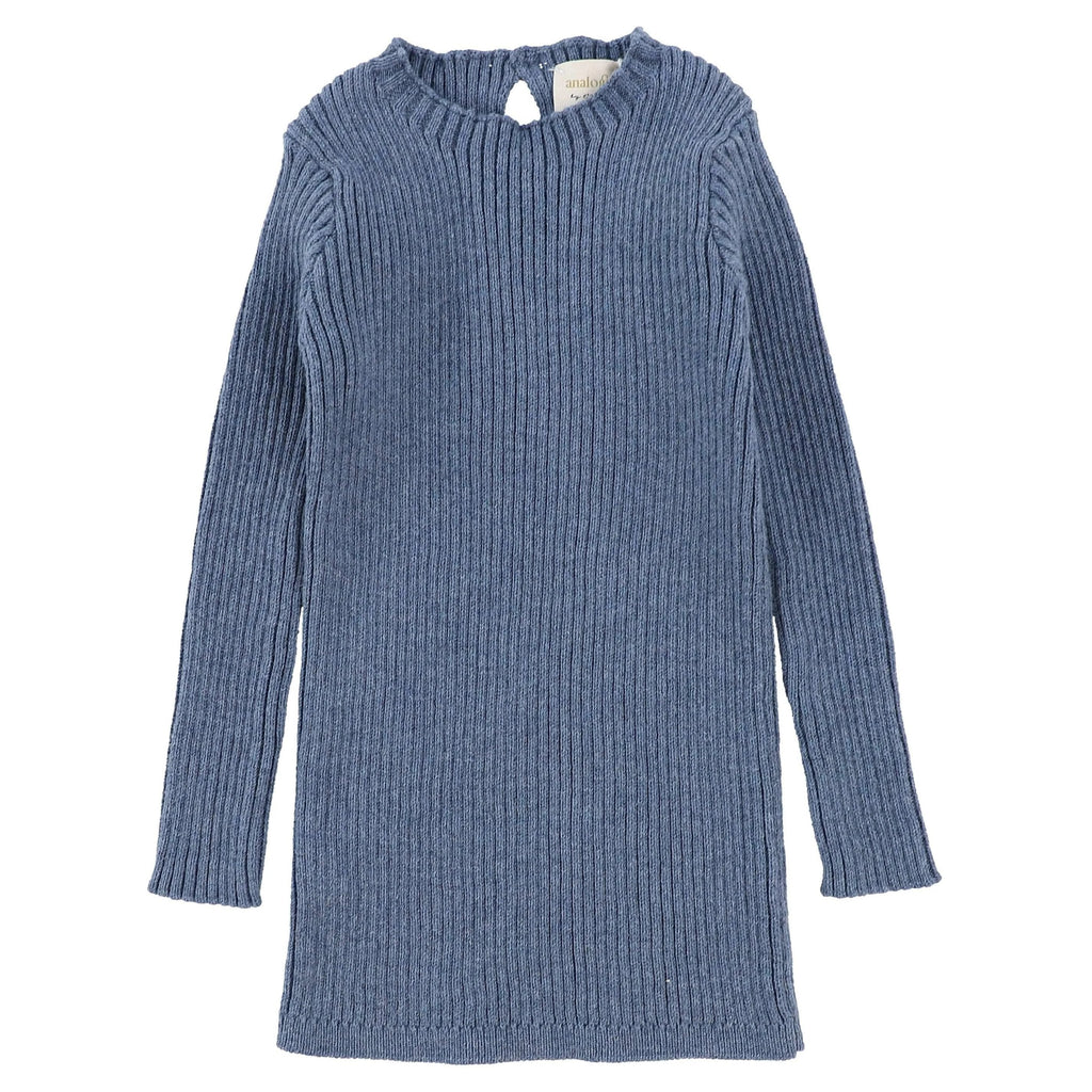 Analogie by Lil Legs Analogie Blue Knit Long Sleeve Sweater  JellyBeanz Kids