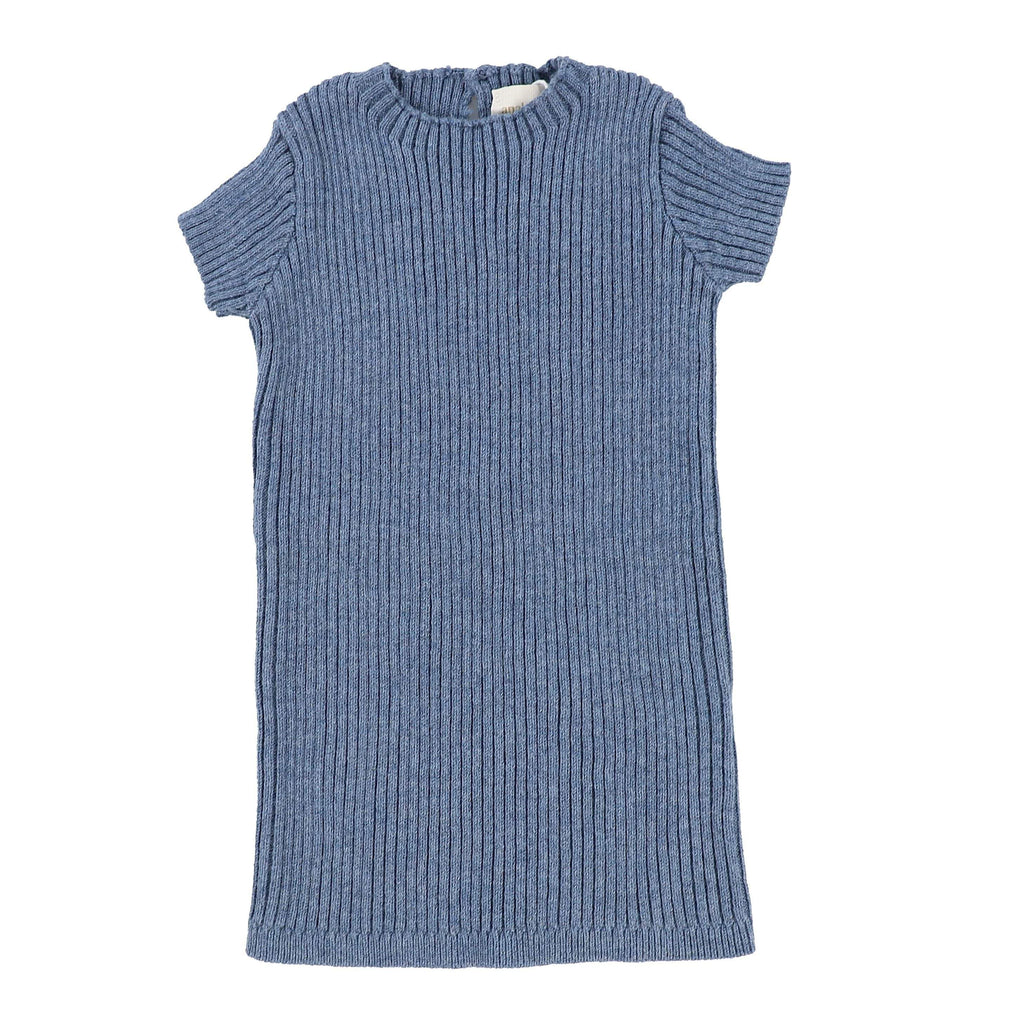 Analogie by Lil Legs Analogie Blue Knit Short Sleeve Sweater  JellyBeanz Kids