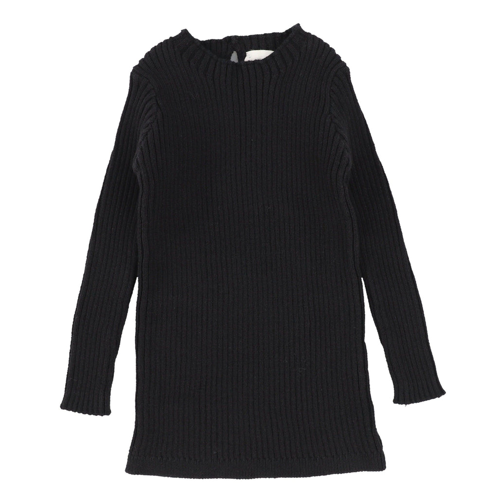 Analogie by Lil Legs Black Long Sleeve Knit Sweater