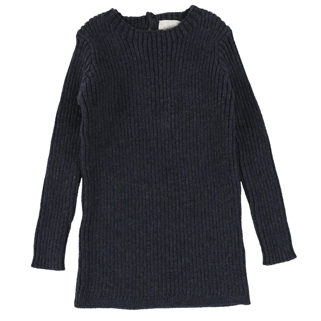 Analogie by Lil Legs Indigo Long Sleeve Knit Sweater
