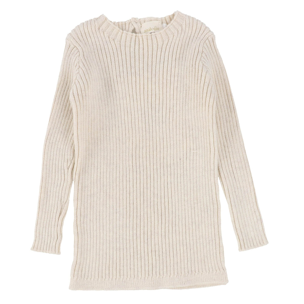 Analogie by Lil Legs Vintage Ecru Long Sleeve Knit Sweater