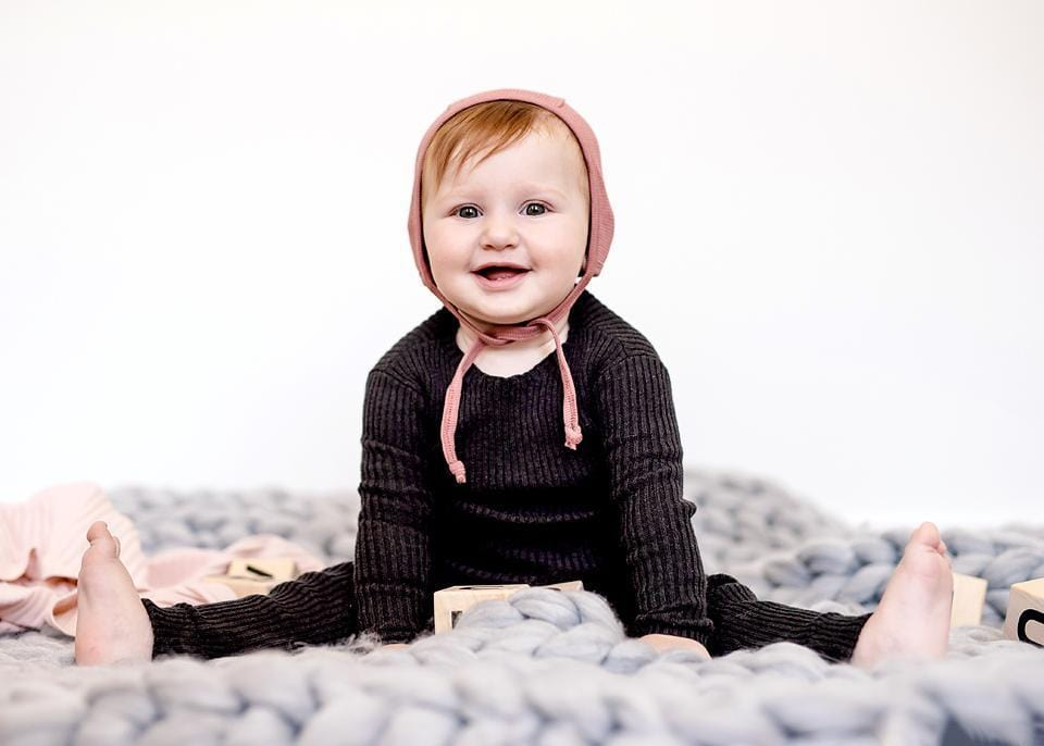 Analogie by Lil Legs Analogie Marled Black Knit Sweater  JellyBeanz Kids
