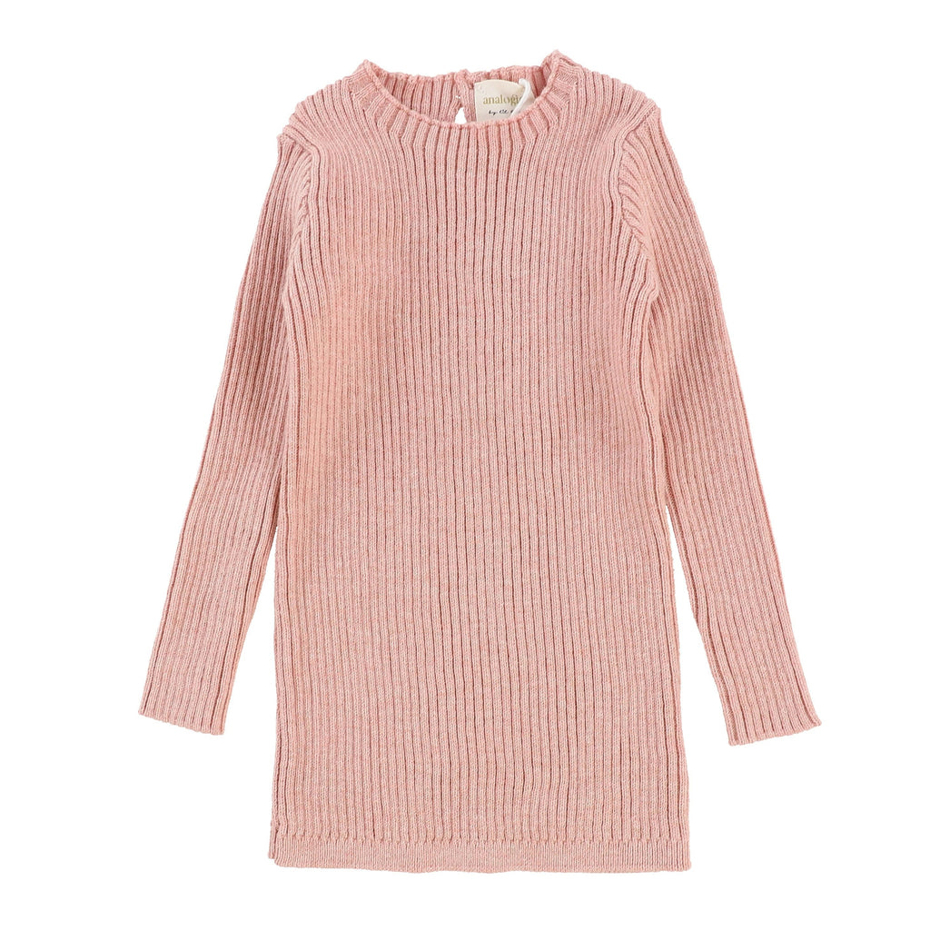 Analogie by Lil Legs Analogie Pink Knit Long Sleeve Sweater  JellyBeanz Kids