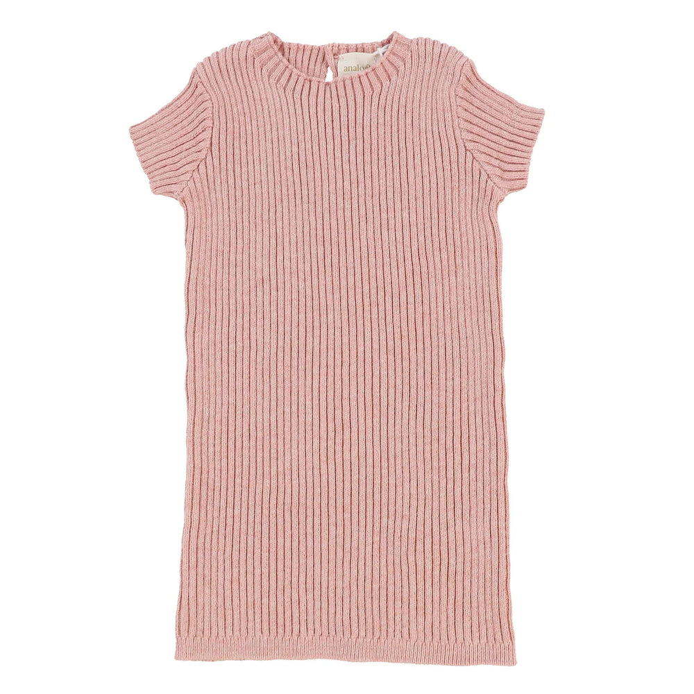 Analogie by Lil Legs Analogie Pink Knit Short Sleeve Sweater  JellyBeanz Kids
