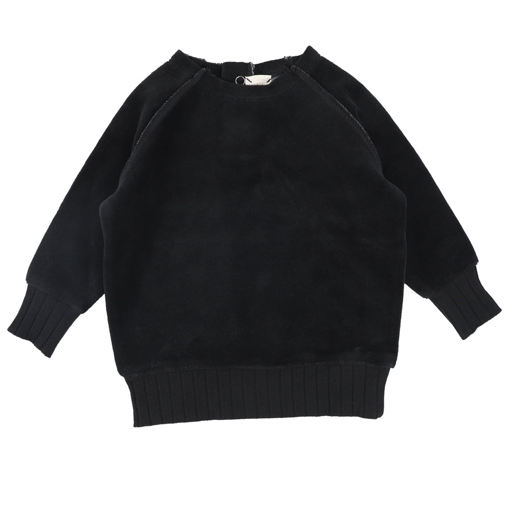 Analogie by Lil Legs Black Velour Sweater