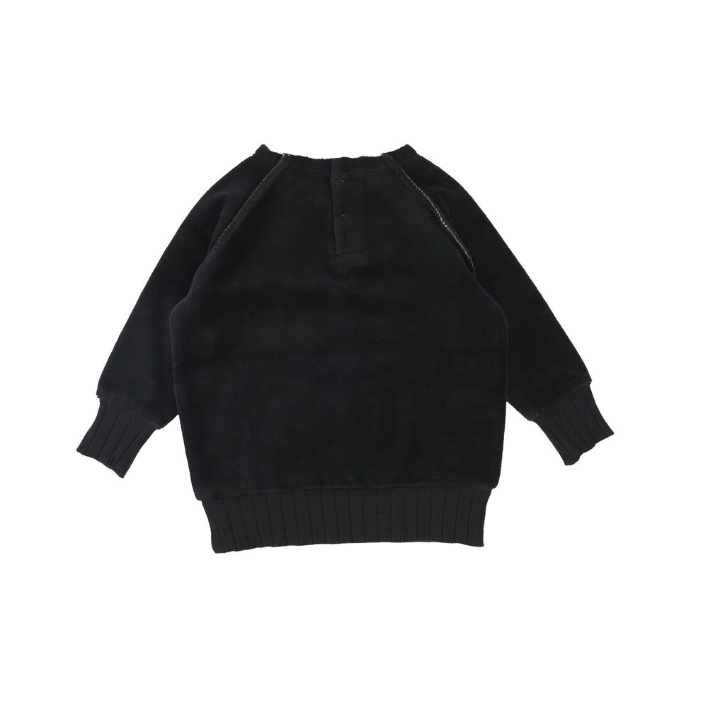 Analogie by Lil Legs Sweatshirt Jellybeanzkids Analogie by Lil Legs Black Velour Sweater