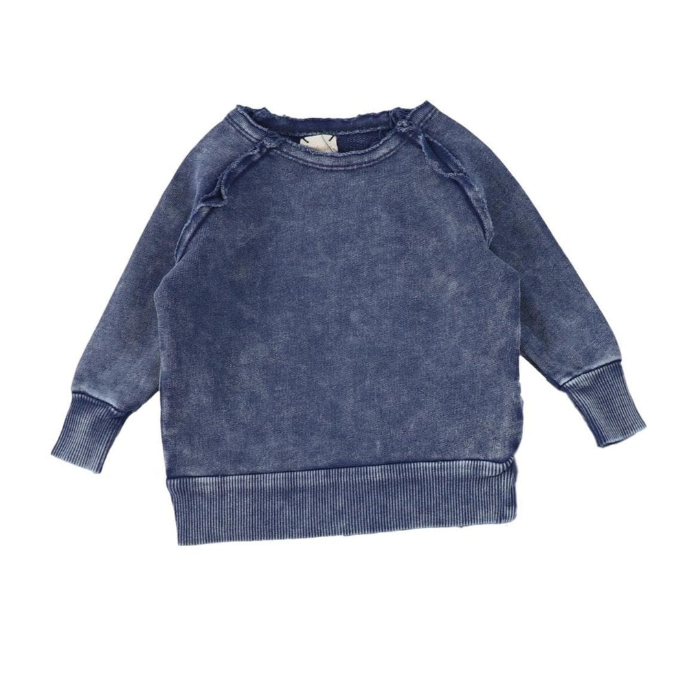 Analogie by Lil Legs Blue Wash Denim Raglan Sweater