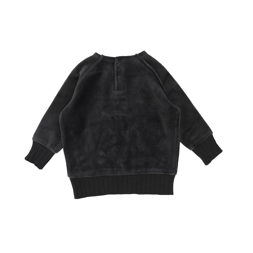 Analogie by Lil Legs Sweatshirt Jellybeanzkids Analogie by Lil Legs Grey Velour Sweater
