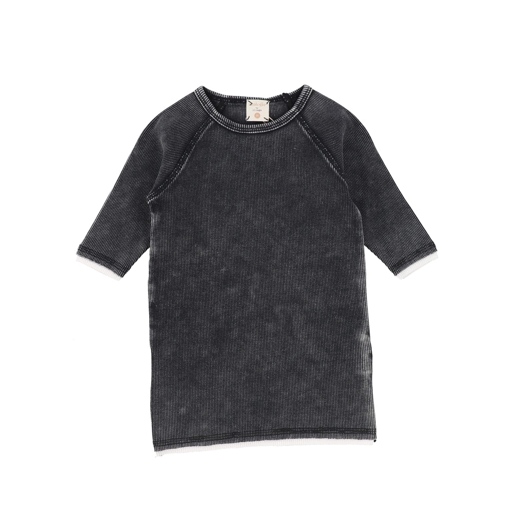 Analogie by Lil Legs T-shirt Jellybeanzkids Analogie Black Wash 3/4 Sleeve Tee