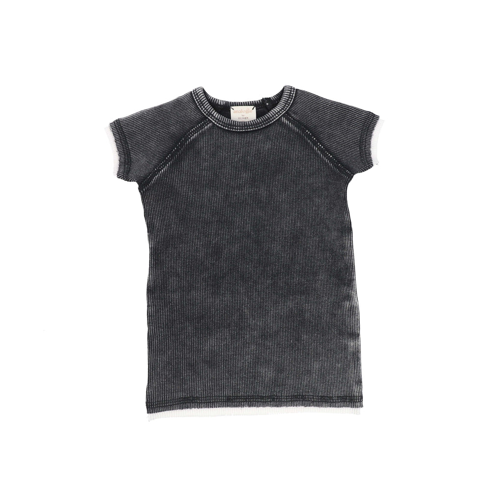 Analogie by Lil Legs T-shirt Jellybeanzkids Analogie Black Wash Short Sleeve Tee