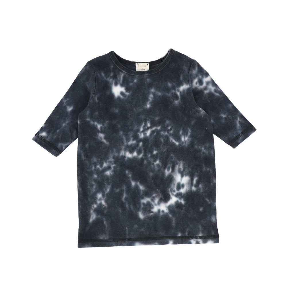 Analogie by Lil Legs T-shirt Jellybeanzkids Analogie Black Watercolor 3/4 Sleeve Tee