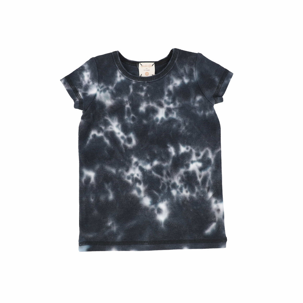 Analogie by Lil Legs T-shirt Jellybeanzkids Analogie Black Watercolor Short Sleeve Tee
