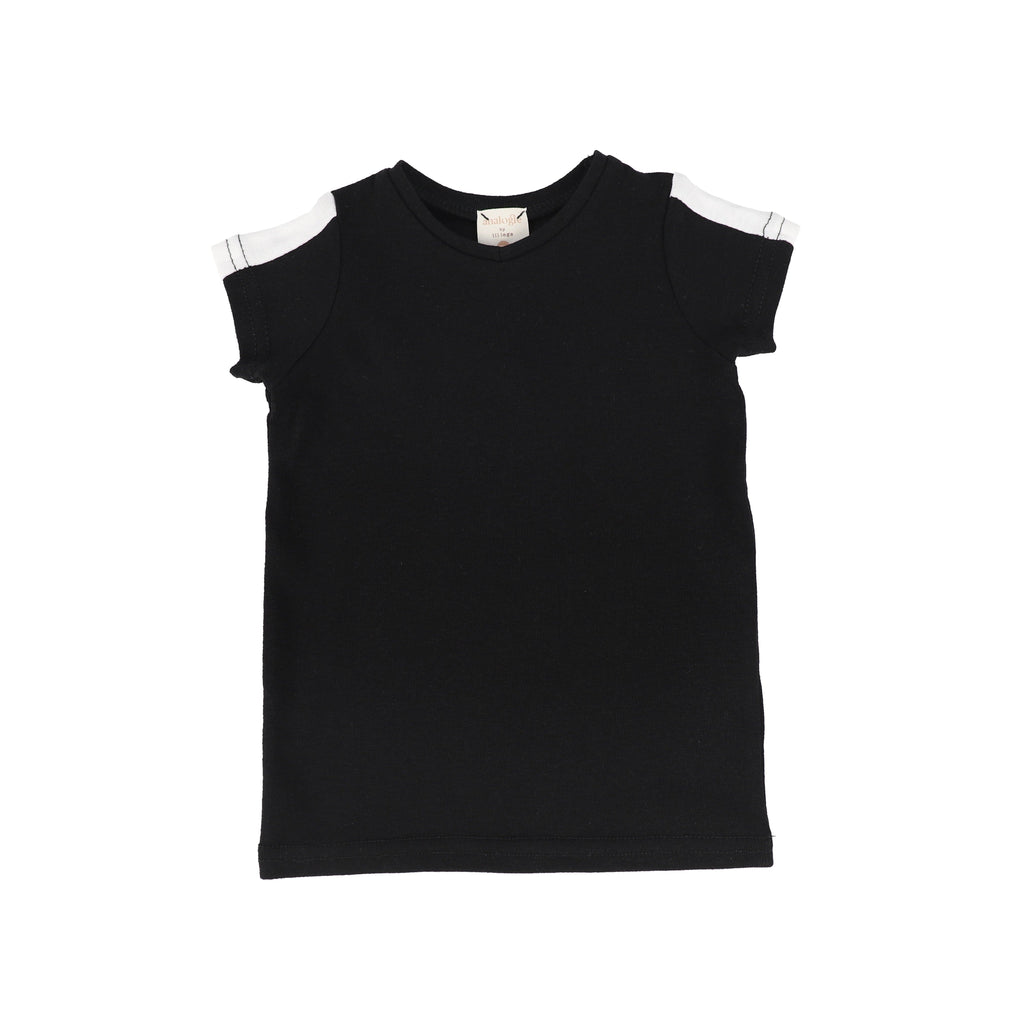 Analogie by Lil Legs T-shirt Jellybeanzkids Analogie Black/White Short Sleeve Linear Tee