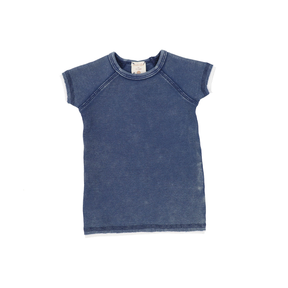 Analogie by Lil Legs T-shirt Jellybeanzkids Analogie Blue Wash Short Sleeve Tee