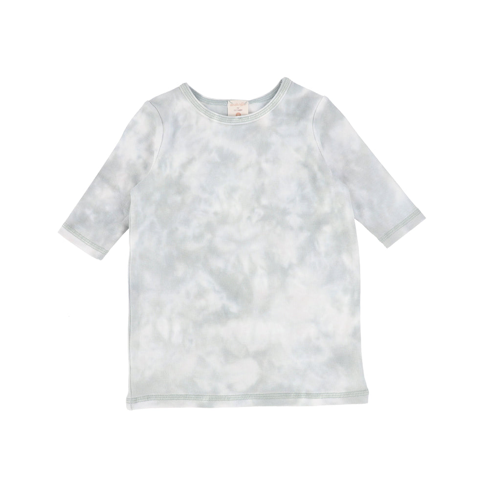 Analogie by Lil Legs T-shirt Jellybeanzkids Analogie Seafoam Watercolor 3/4 Sleeve Tee