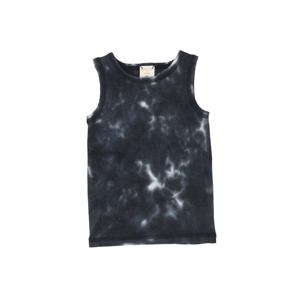 Analogie by Lil Legs Tank Top Jellybeanzkids Analogie Black Watercolor Tank