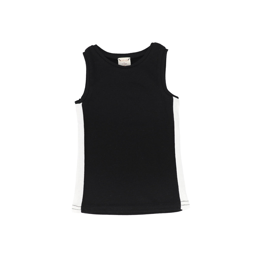 Analogie by Lil Legs Tank Top Jellybeanzkids Analogie Black/White Linear Tank