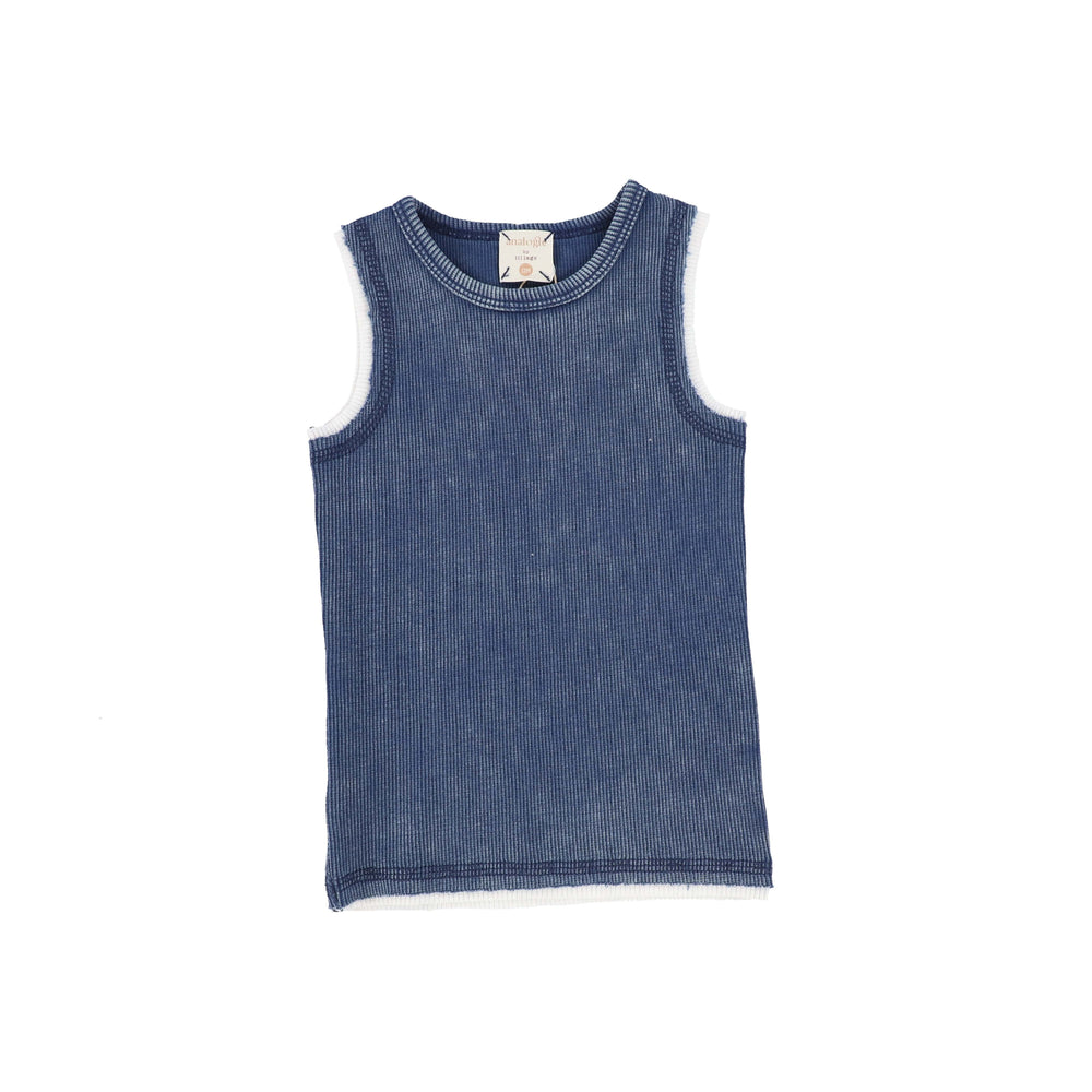 Analogie by Lil Legs Tank Top Jellybeanzkids Analogie Blue Wash Tank