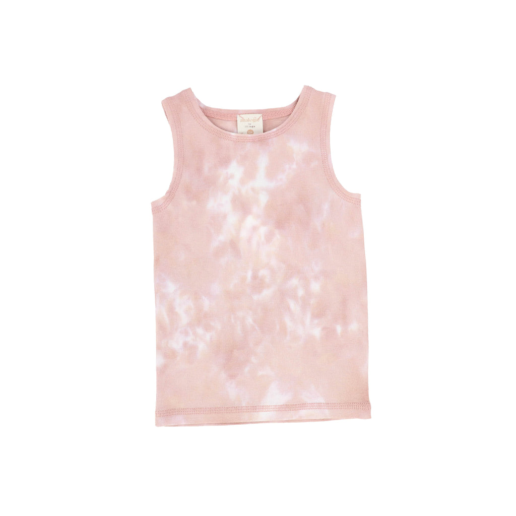 Analogie by Lil Legs Tank Top Jellybeanzkids Analogie Blush Watercolor Tank