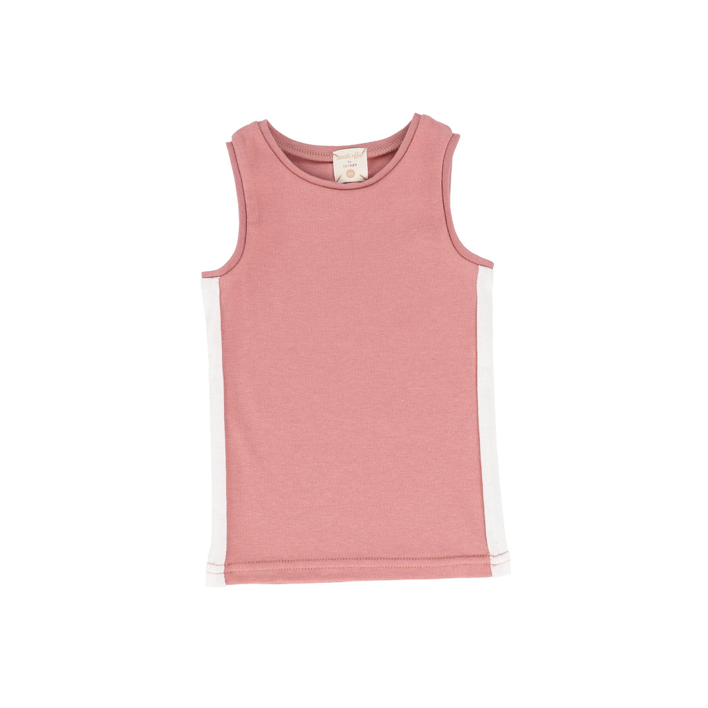 Analogie by Lil Legs Tank Top Jellybeanzkids Analogie Pink/White Linear Tank