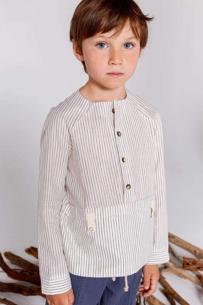 Annice Annice Stripe Flap Pocket Shirt  JellyBeanz Kids