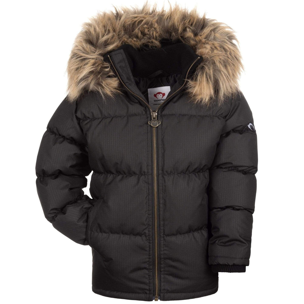 Appaman Appaman Black Base Camp Puffer Coat  JellyBeanz Kids