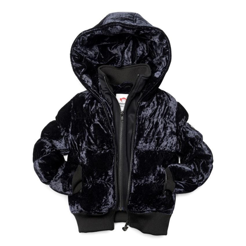 Appaman Appaman Black Crushed Velvet Coat  JellyBeanz Kids