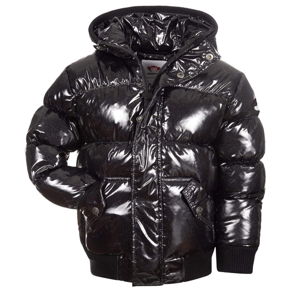 Appaman Appaman Black Glitter Puffy Coat  JellyBeanz Kids