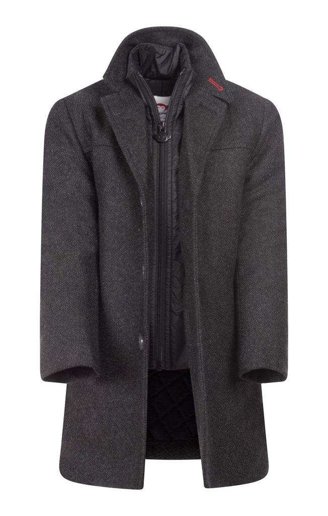 Appaman Appaman Charcoal Herringbone City Overcoat  JellyBeanz Kids