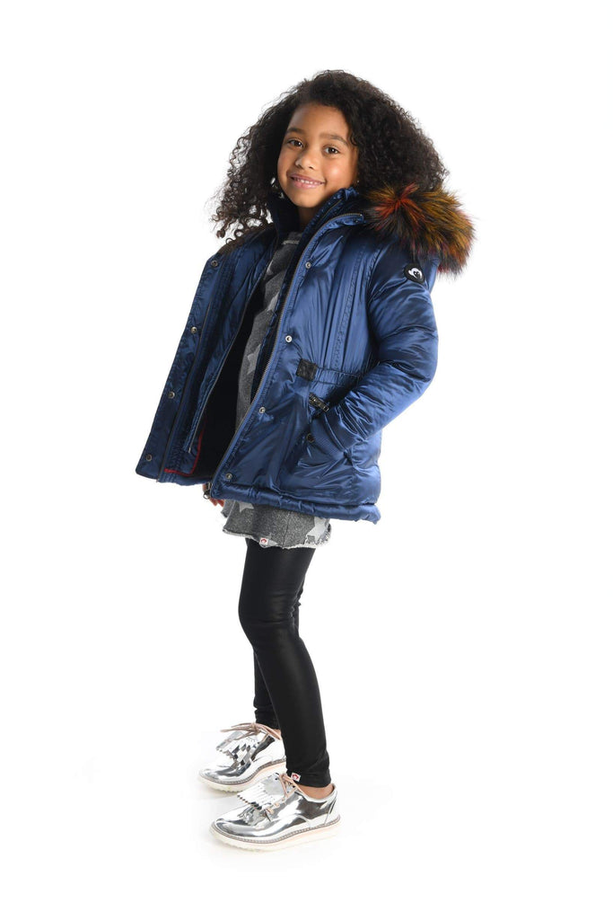 Appaman Coat Jellybeanzkids Appaman Midnight Navy Middie Puffer Coat