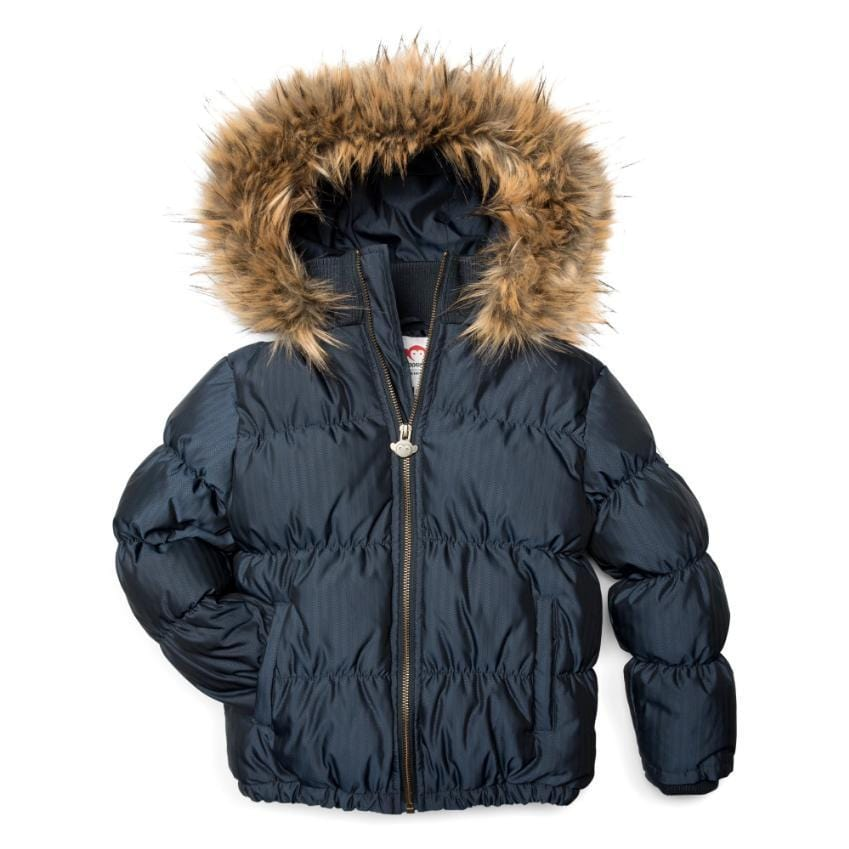Appaman Appaman Navy Herringbone Base Camp Puffer Coat  JellyBeanz Kids