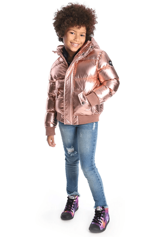 Appaman Coat Jellybeanzkids Appaman Rose Gold Puffer Coat
