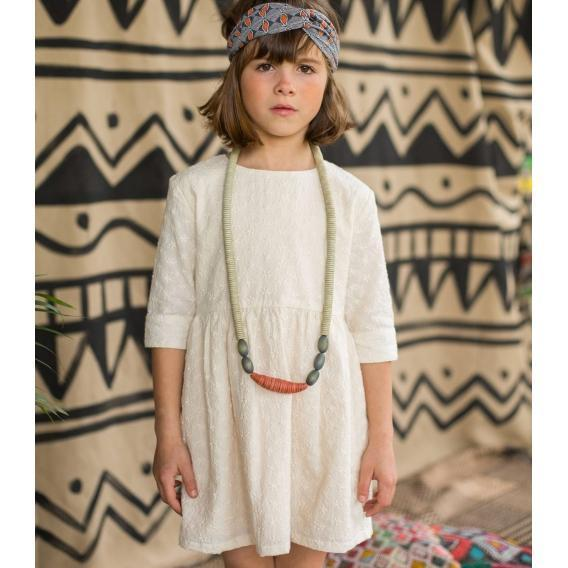 Arsene English Embroidered Dress  JellyBeanz Kids